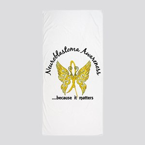 Neuroblastoma Butterfly 6.1 Beach Towel
