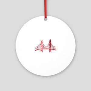 Golden Gate Ornament (Round)