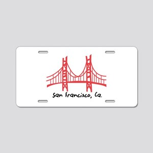 San Francisco Aluminum License Plate