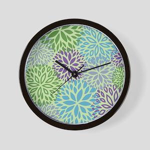 Vintage Floral Pattern Wall Clock