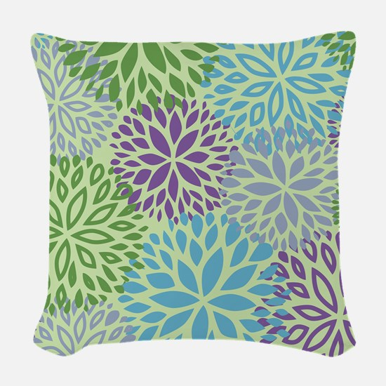 Vintage Floral Pattern Woven Throw Pillow