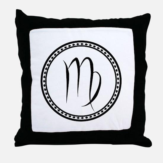 Virgo Symbol Throw Pillow