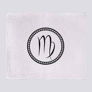 Virgo Symbol Throw Blanket