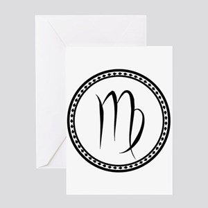Virgo Symbol Greeting Cards