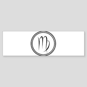 Virgo Symbol Bumper Sticker