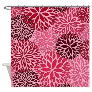 Burgundy And Pink Shower Curtains