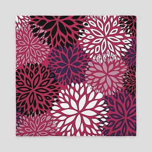 Vintage Floral Pattern Pink Queen Duvet