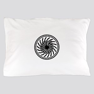Black and White Tribal Circle Pillow Case