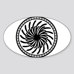 Black and White Tribal Circle Sticker