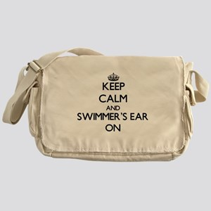 Keep Calm and Swimmer'S Ear ON Messenger Bag