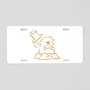 Groundhog Outline Aluminum License Plate
