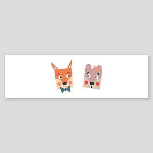 Foxes Bumper Sticker
