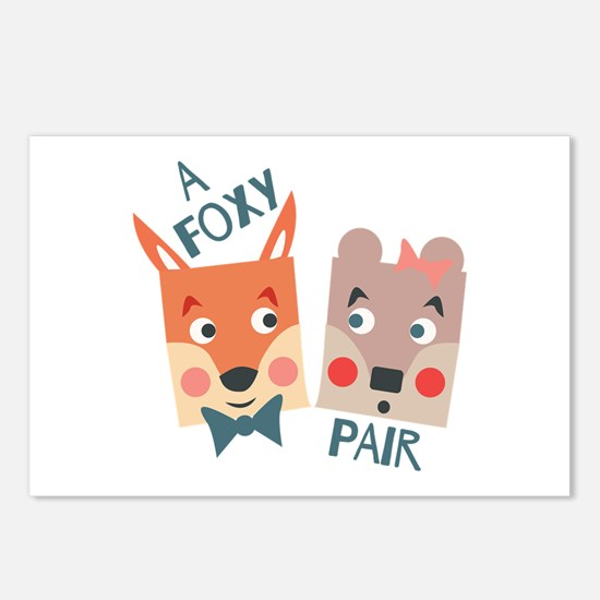A Foxy Pair Postcards (Package of 8)