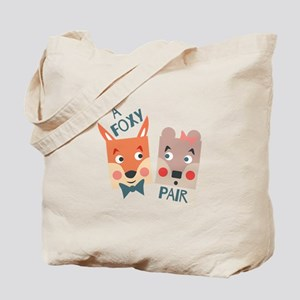 A Foxy Pair Tote Bag