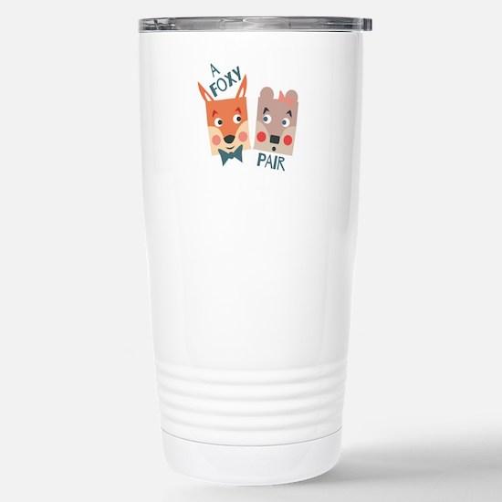 A Foxy Pair Travel Mug