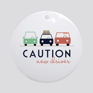 Caution New Driver Ornament (Round)