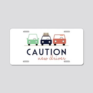 Caution New Driver Aluminum License Plate