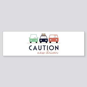 Caution New Driver Bumper Sticker