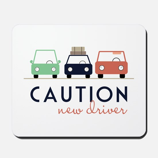 Caution New Driver Mousepad
