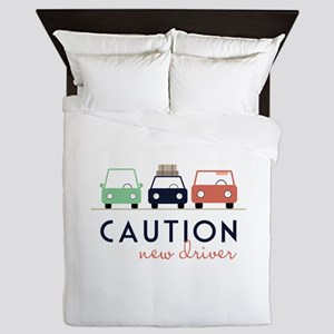 Caution New Driver Queen Duvet