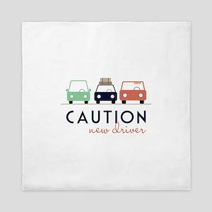 Caution New Driver Queen Duvet