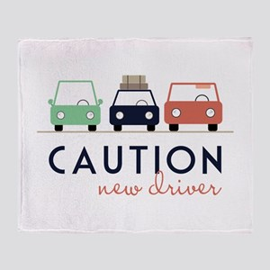 Caution New Driver Throw Blanket