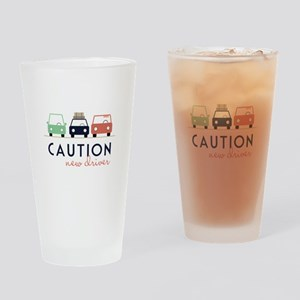Caution New Driver Drinking Glass