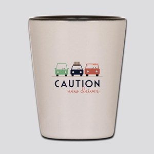 Caution New Driver Shot Glass