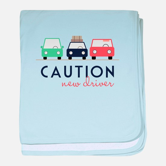 Caution New Driver baby blanket