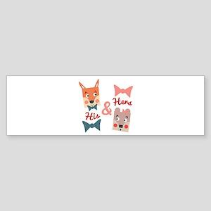 His & Hers Bumper Sticker