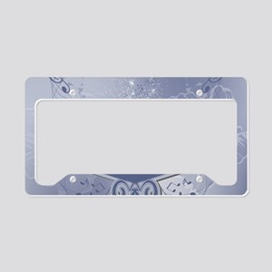 Music, clef wiht keynotes License Plate Holder