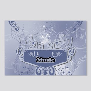 Music, clef wiht keynotes Postcards (Package of 8)