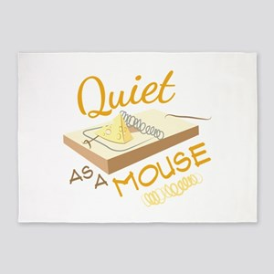 Quiet As A Mouse 5'x7'Area Rug