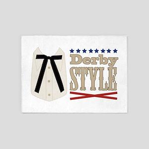 Kentucky Colonel Tie Derby Style 5'x7'Area Rug