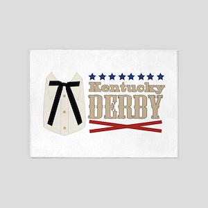Kentucky Colonel Tie Kentucky Derby 5'x7'Area Rug