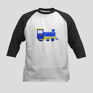 Blue Train Kids Baseball Jersey