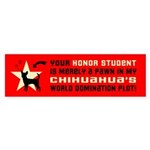 Chihuahua Honor Student Bumper Sticker