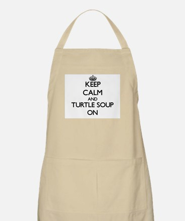 Keep Calm and Turtle Soup ON Apron