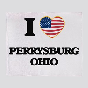 I love Perrysburg Ohio Throw Blanket