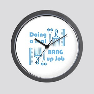 Bang Up Job Wall Clock