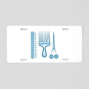 Hairdresser Tools Aluminum License Plate