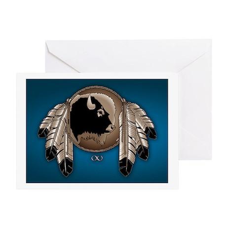 Native Spirit Buffalo Metis Art Greeting Card