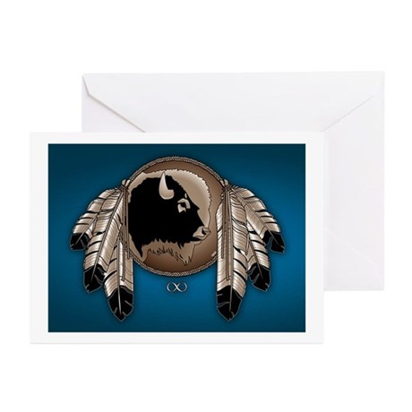 Native Spirit Buffalo Me Greeting Cards (Pk of 20)
