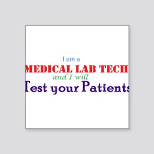 "I am a Lab Tech Square Sticker 3"" x 3"""