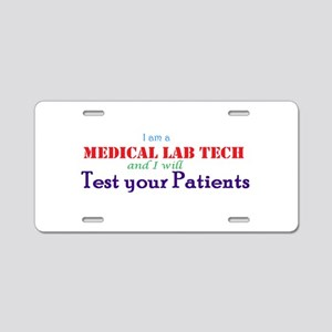 I am a Lab Tech Aluminum License Plate