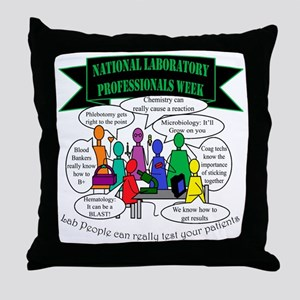 Lab Team Humor Throw Pillow