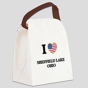 I love Sheffield Lake Ohio Canvas Lunch Bag