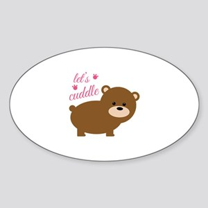 Lets Cuddle Sticker