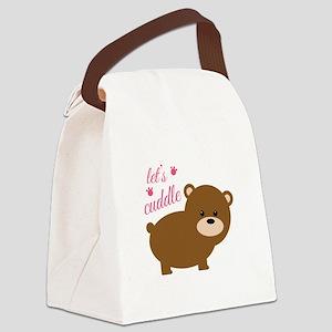 Lets Cuddle Canvas Lunch Bag