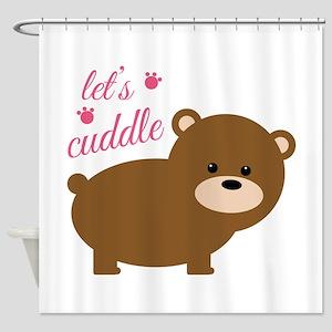 Lets Cuddle Shower Curtain